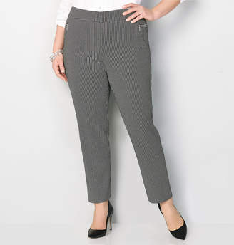 Avenue Pattern Pull-On Pant with Zipper Pockets 28-32