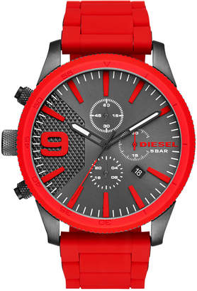 Diesel Men's Rasp Chrono Red Stainless Steel Bracelet Watch 50x59mm DZ4448