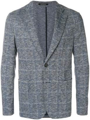 Emporio Armani unstructed checked blazer
