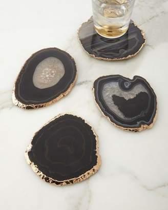 AERIN Black Agate Coasters, 4-Piece Set