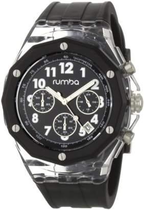 RumbaTime Men's Mercer Lights Out 45mm Dial Watch