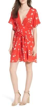 Lush Floral Cutout Back Minidress