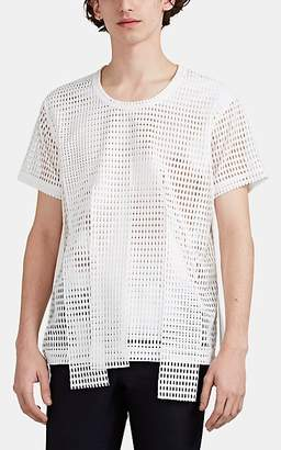 Comme des Garcons Men's Fringe Raschel-Mesh T-Shirt - White