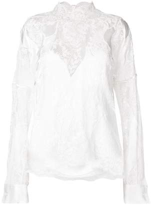 Ermanno Scervino lace cut out blouse