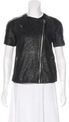 AllSaints Short Sleeve Leather Jacket