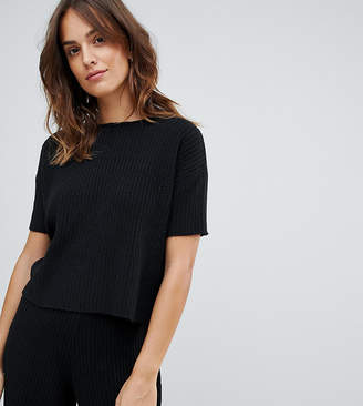 Micha Lounge knitted t-shirt in soft rib two-piece
