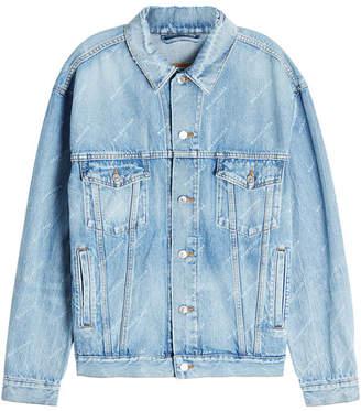 Balenciaga Allover Logo Denim Jacket