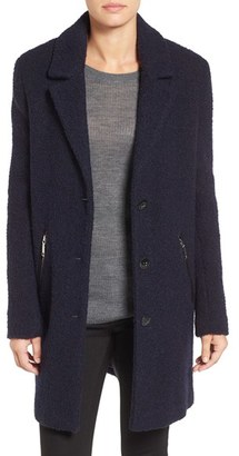 Women's Calvin Klein Boucle Walking Coat $228 thestylecure.com