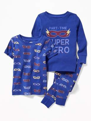 "Old Navy ""Part-Time Super Hero"" 3-Piece Sleep Set for Toddler Boys"