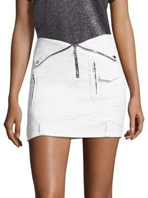 RtA Gisele Cotton Biker Skirt
