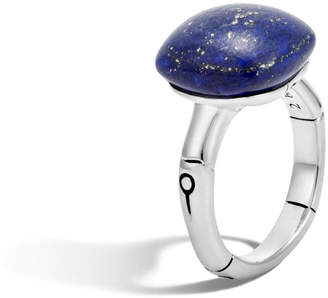 John Hardy Bamboo Cushion Lapis Ring, Size 8