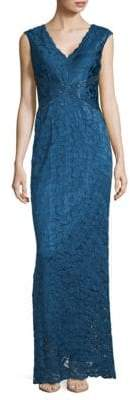 Adrianna Papell Sleeveless V-Neck Gown