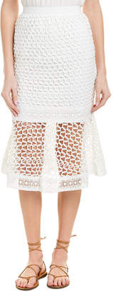 Moon River Lace Midi Skirt