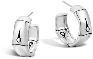 John Hardy Bamboo Silver Medium Hoop Earrings