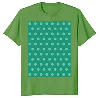 Emerald green polka dot tee t shirt cute and lovely