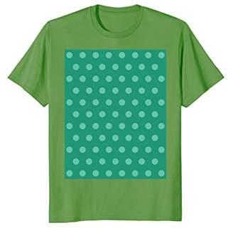 Emerald green polka dot tee t shirt cute and lovely