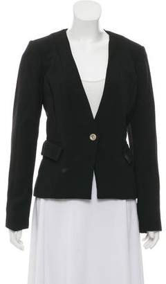 Karl Lagerfeld Structured Collarless Blazer