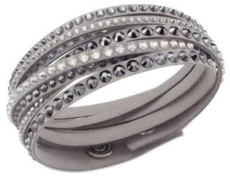 Swarovski Slake Deluxe Crystal Wrap Around Faux Suede Bracelet