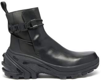 Alyx Exaggerated Sole Buckled Leather Chelsea Boots - Mens - Black