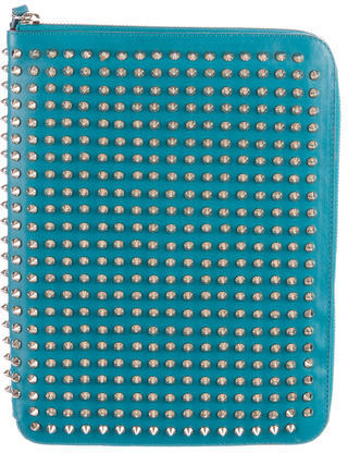 Christian Louboutin  Christian Louboutin Spiked Leather iPad case
