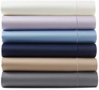 Hudson Park Collection 500TC Sateen Iron Free Queen Flat Sheet - 100% Exclusive