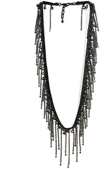 ACB Black Diamond Fringy Sparkle Necklace