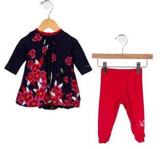 Catimini Infants' Floral Print Two-Piece Set