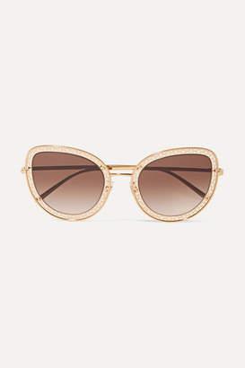 Dolce & Gabbana Cat-eye Gold-tone Sunglasses