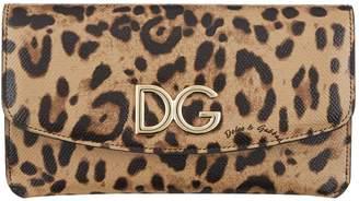 Dolce & Gabbana Leopard Print Multi-Functional Wallet