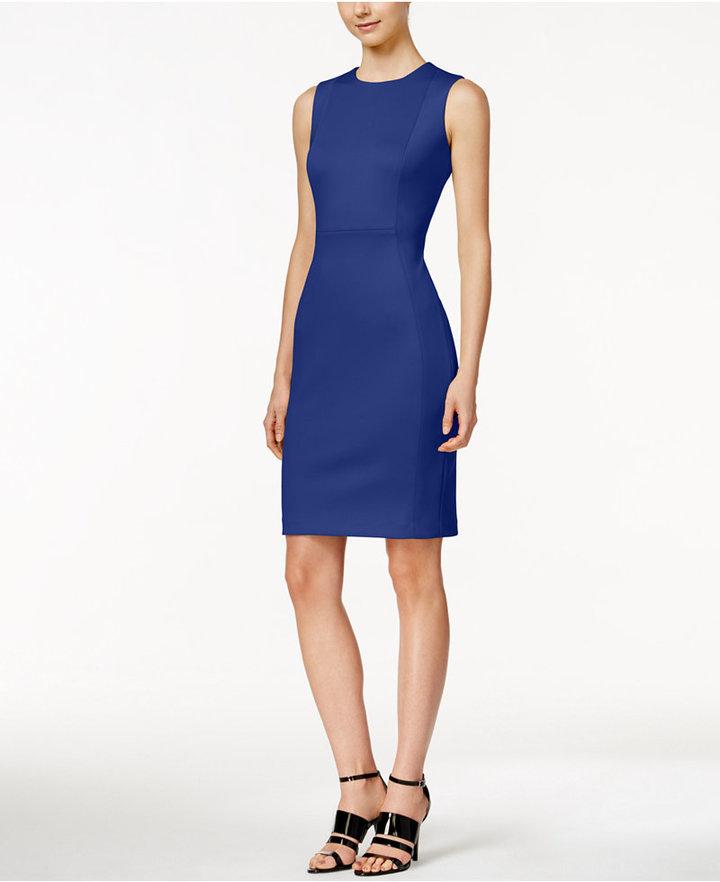 Calvin Klein Scuba Crepe Sheath Dress 4