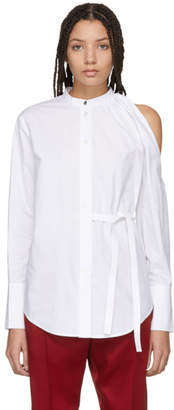 Proenza Schouler White One-Shoulder Button Down Shirt