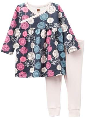 Tea Collection Puff Dress Outfit (Baby Girls)