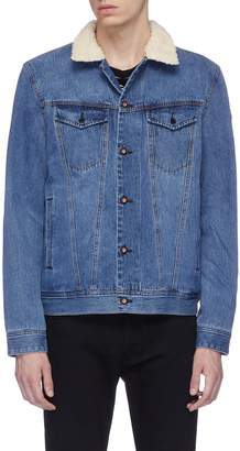 Denham Jeans 'Amsterdam' faux shearling lined denim jacket
