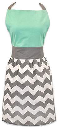 DII Women's Adjustable Cooking Apron Dress with Extra Long Ties