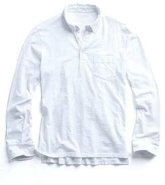 Todd Snyder MADE IN L.A. LONG SLEEVE POLO in WHITE