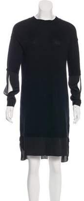 Halston Wool & Cashmere Knee-Length Dress