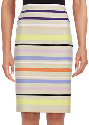 Lord & Taylor Sunset Striped Pencil Skirt $80 thestylecure.com