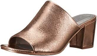 Kenneth Cole Reaction Women's Mass-TER Mind Open Toe Slide with Block Heel Metallic Pump