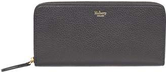 Mulberry Logo Print Zip Around Wallet