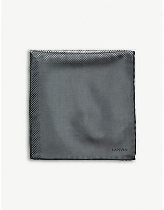 Lanvin Microdot print silk pocket square