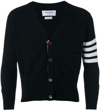 Thom Browne four stripe sleeve cardigan