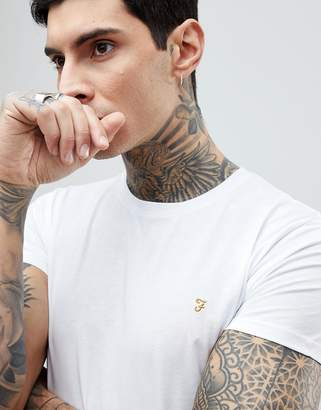 Farah Farris Slim Fit Logo T-Shirt White