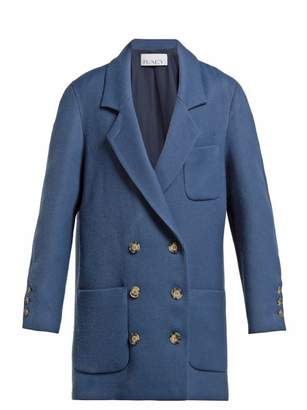 Raey Oversized Brushed Twill Blazer - Womens - Blue