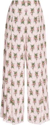 Emilia Wickstead Linettina Printed Wide-Leg Pants