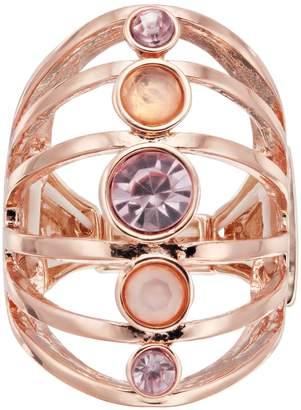 JLO by Jennifer Lopez Rose Gold Tone Multi Row Stretch Ring