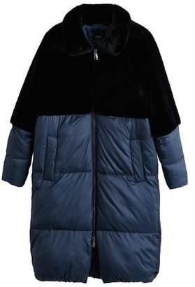 MANGO Faux-fur quilted coat
