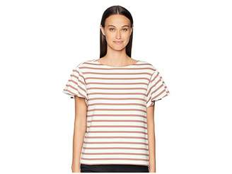 Kate Spade Stripe Drop Shoulder Tee Women's T Shirt