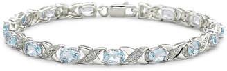 JCPenney FINE JEWELRY Genuine Blue Topaz and Diamond-Accent Bracelet