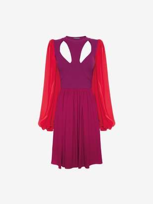 Alexander McQueen Colorblock Harness Mini Dress
