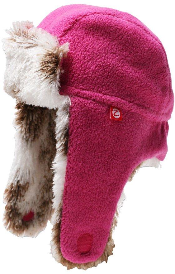 Zutano Cozie Fleece Shaggy Hat - Fuchsia- 3T